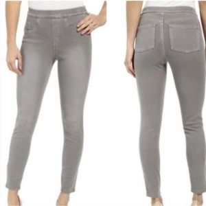 Spanx Grey Jean Ish Pull On Stretchy Leggings NWT